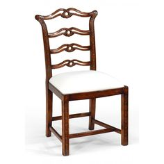 Jonathan Charles Chippendale style mahogany pierced back dining Side Chair
