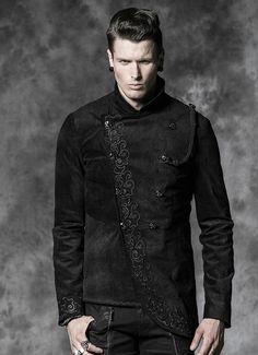 Veste gothique homme PUNK RAVE 'lord of darkness'