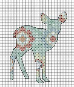 Free Woodland Fawn cross stitch pattern