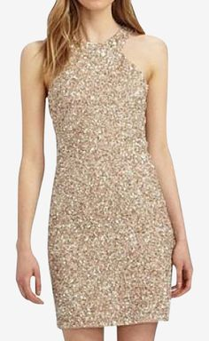Parker Gold Sequin Dress   VAUNTE