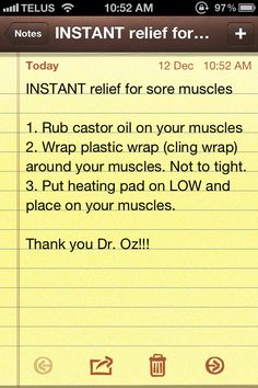 Instant relief for sore muscles!!