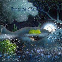 Felder von Jade Kunstdruck von Amanda Clark