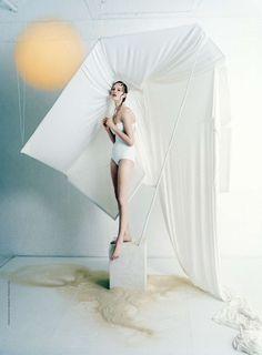 Vogue US June 2015 Ban de Soleil Photographer: Tim Walker Stylist: Phyllis Posnick Model: Vanessa Axente Make-Up: Val Garland Hair: Julien d'Ys