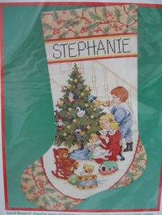 Dimensions Stocking Cross Stitch Kit Christmas Morning Children 8429 #Dimensions