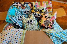 DIY owl pillows