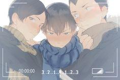 Haikyuu!! Akira Kunimi, Tobio Kageyama, Kindaichi Yutaro