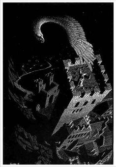 Gandalf on Orthanc · Aleksandr Kortich. The rescue of Gandalf by Gwaihir