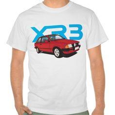 Ford Escort MK3 XR3 red DIY  #ford #escort #fordescort #mk3 #xr3 #tshirt #thirts #automobile #car #uk
