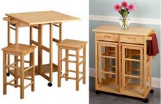 You'll find great options of 3 piece small kitchen table sets in this page. They are stylish dining tables that fix well at small area. Small Kitchen Table Sets, Kitchen And Bath, New Kitchen, Breakfast Nook Decor, Breakfast Table Setting, Breakfast Bars, Brown Cabinets, Diy On A Budget, Kitchen Design