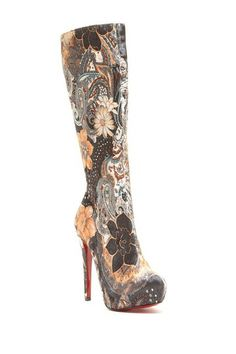Bucco Saturn Floral Tall Boot  $40  http://www.hautelook.com/invite/ACarrico666