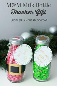 M&M Milk Bottle Teacher Gift | JustAGirlAndHerBlog.com