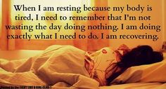 Why must I always feel vilify for resting when I really need to #chronicillness