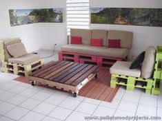 Furniture Ideas by Recycling Pallets Wood