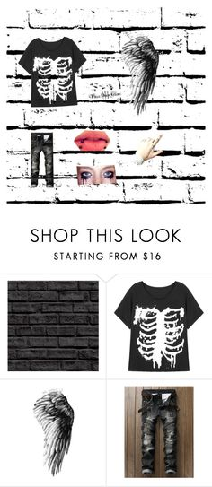 """""""Fallen angel in the dark never thought you'd fall so far"""" by damien5cain ❤ liked on Polyvore"""