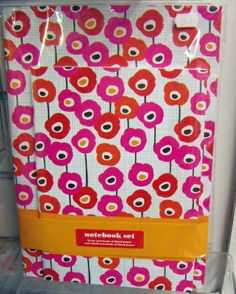 """Our """"Poppies"""" notebook set was spotted by Print and Pattern blog on their trip to Bristol."""