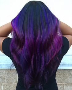 30 Stunning Blue and Purple Hair -- Staying Glam and Trendy