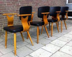 4 Pastoe Cees Braakman jaren 50 stoelen Retro Vintage Design