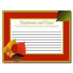 Writable Advice Card Foliage Leaves Post Card
