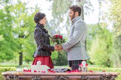 Liebe verbindet! Das Styled Shooting Kilt goes Wedding zeigt wie toll die Verbindung von Tracht und Kilt bei einer Hochzeit wirken kann.