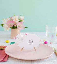 Easter Sheep Place Cards DIY   Oh Happy Day!