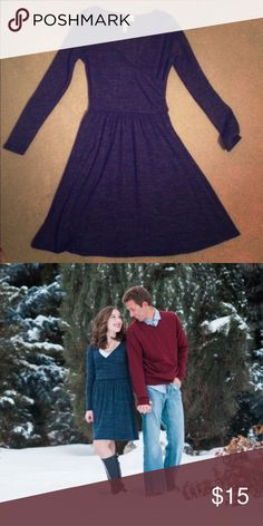 Navy Blue Dress Size: XS. Length: hits just above the knee. In great condition! Only worn a few times for engagement shoot (see above photo). alya Dresses Long Sleeve