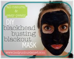 This all-natural Blackhead Busting Blackout mask is my favorite DIY! It helps naturally and gently clear skin. Health and natural beauty.