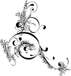 Swirl Tattoo Designs For Girls | Jagged Swirl Maze - Maze of a swirl that converges toward the center ...