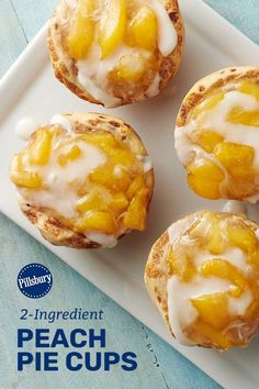 Welcome warm weather months with the ultimate twist on fan-favorite peach pie with these irresistible dessert cups made with Pillsbury™ cinnamon rolls and peach pie filling. They are so good, you'll have a hard time believing you only need two ingredients to make them!