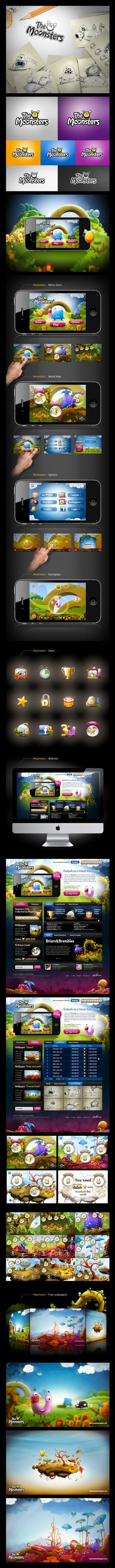 The Moonsters - iPhone Game - | #webdesign #it #web #design #layout #userinterface #website #webdesign <<< repinned by an #advertising #agency from #Hamburg / #Germany - www.BlickeDeeler.de | Follow us on www.facebook.com/BlickeDeeler