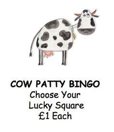 Cow Patty Bingo Poster