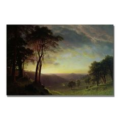"""The Sacramento River"" by Albert Bierstadt Painting Print on Canvas"