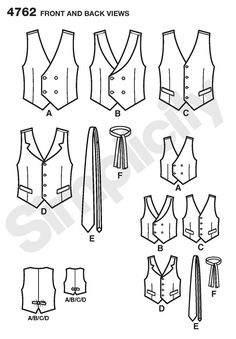 Ethan and Vail in a double-breasted vest Boys and Mens Vests and Ties sewing pattern 4762 Simplicity Vogue Sewing Patterns, Easy Sewing Patterns, Simplicity Sewing Patterns, Clothing Patterns, Clothing Ideas, Sewing Men, Love Sewing, Sewing Clothes, Men Clothes