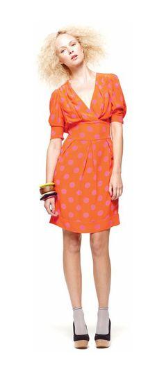 I love this polka dot Gorman dress! And that big, frizzy hair.