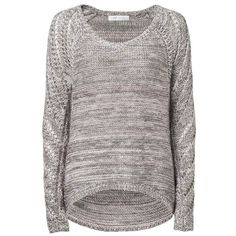 Forever New Lila High/Low Raglan Sweater ($45) ❤ liked on Polyvore featuring tops, sweaters, shirts, jumpers, multi, extra long sleeve sweater, long jumper, shirt sweater, raglan sleeve shirts and extra long sleeve shirts
