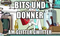 Rick and Morty - I'm bored - Bits und Donner Am Glitter gwitter Im Bored, Rick And Morty, Glitter, Glow