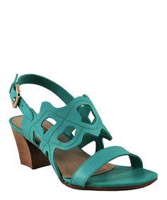 Love this Emerald Cutout Leather Slingback by Bruno Menegatti on #zulily! #zulilyfinds Mira que lindos, son brasilenos. tal vez me los compre, quedan solo 4 ya...hay en negro y cafe, pero me encanta este color!