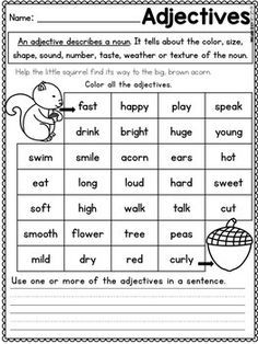 4 First Grade Worksheets Fall Activities for First Grade Math Worksheets and Literacy √ First Grade Worksheets . 4 First Grade Worksheets. Fact Family Worksheets for First Grade First Grade Math Worksheets, Literacy Worksheets, English Grammar Worksheets, First Grade Activities, Reading Comprehension Worksheets, Addition Worksheets, Adjectives Activities, Grammar Activities, Teaching Grammar