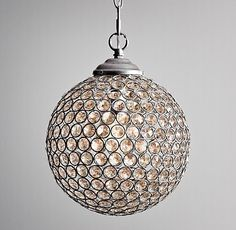 """9"""" Claridge Crystal Pendant - A great pendant light for your closet, dressing room, or even just your the dressing area of your bedroom. Small and sparkly - just right!"""
