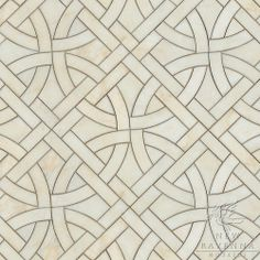Gran Via, a natural stone waterjet mosaic shown in Cloud Nine polished, is part of the Miraflores Collection by Paul Schatz for New Ravenna Mosaics.  CB1313PS  Copyright New Ravenna Mosaics 2012