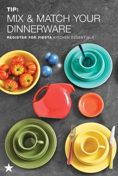 Mix & match this colorful dinnerware from Fiesta. This 5-star customer-rated collection is our registry go-to. Explore their colorful dinnerware and serveware for yourself and add your faves to your Macy's Registry — head to macys.com now!