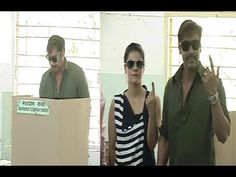 Ajay Devgan and Kajol cast their votes for Lok Sabha Elections 2014.