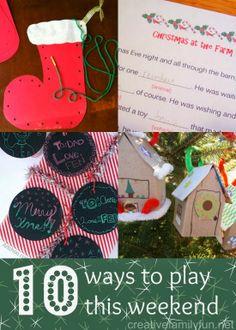 10 Ways to Play This Weekend: Week 56 ~ Creative Family Fun