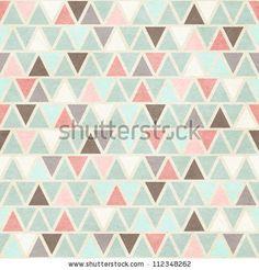 geometric, hand-cut quality, pastel