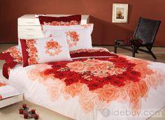Amarillo Gris Blanco popular 4 ropa de cama de algodón Piece Sets (Envío Gratuito)
