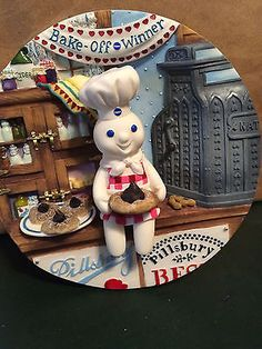 Pillsbury Doughboy 3-D Plate Danbury Mint... Peanut Blossoms