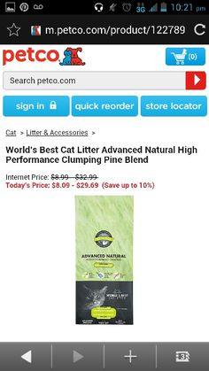 Worlds best cat litter adbance natural high performance clumping pine ...