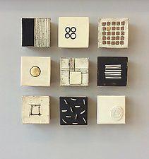 """Nine Small by Lori Katz (Ceramic Wall Sculpture) (5"""" x 5"""")"""