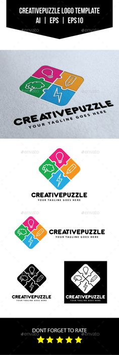 Creative Puzzle - Logo Design Template Vector #logotype Download it here: http://graphicriver.net/item/creative-puzzle-logo-template/10654846?s_rank=1276?ref=nexion