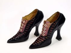 Shoes, ca 1890, Museum Weißenfels  These may or may not be fetish shoes. If they weren't fetish shoes, they were a rare example of a prize work pair.