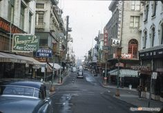Intersection of Grant Avenue and Sacramento Street in Chinatown, 1950
